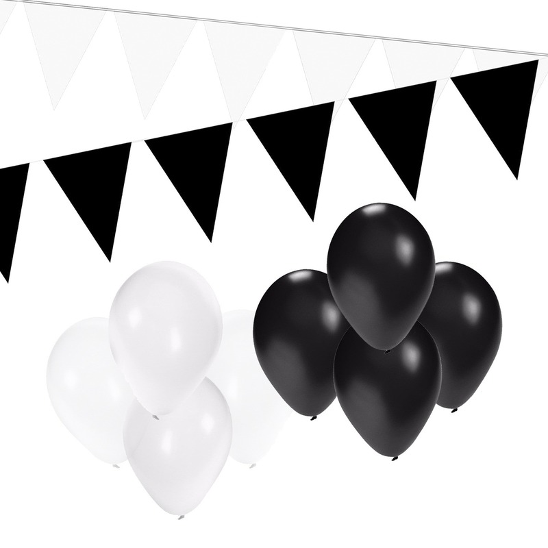 Black and White feest thema versiering pakket small