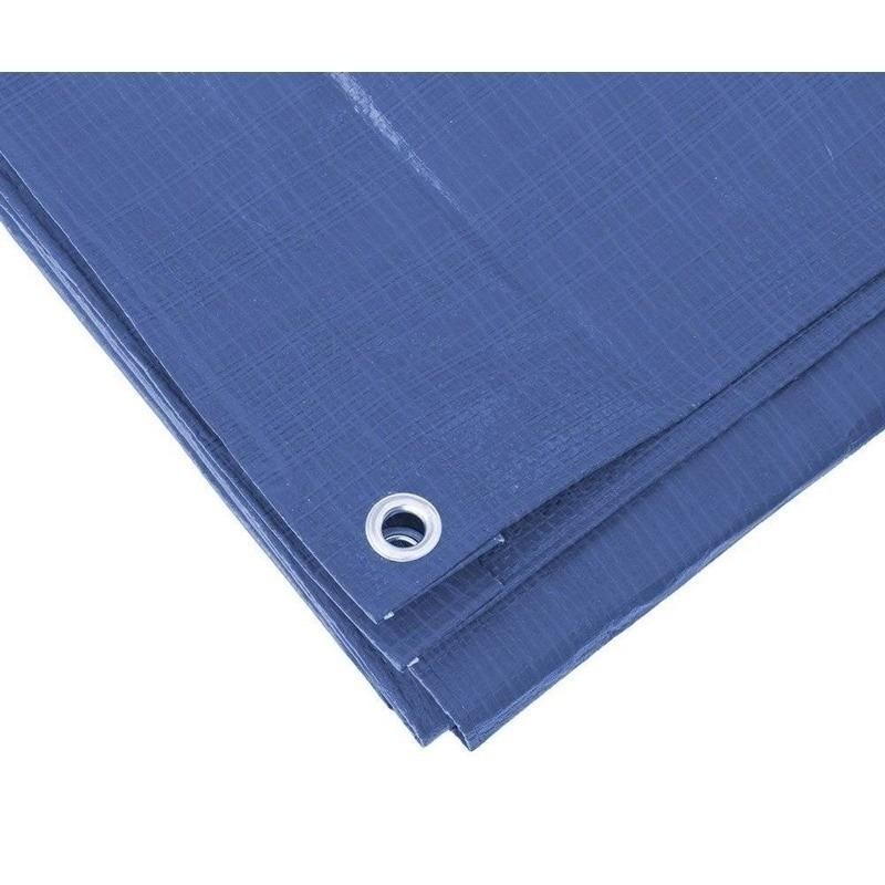 Blauw afdekzeil-dekzeil 6 x 8 meter