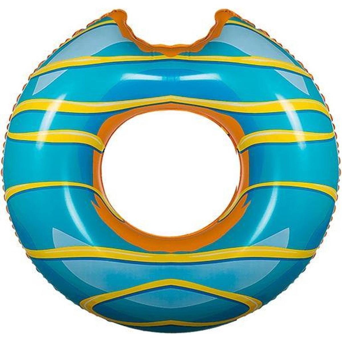 Blauwe donut zwemband