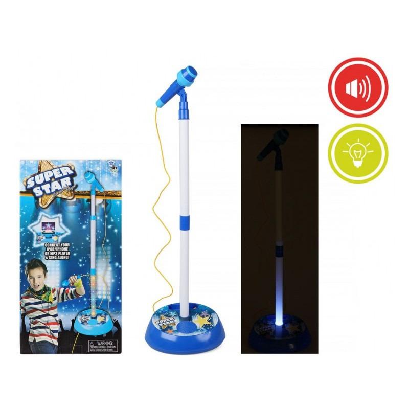 Blauwe microfoon voor kinderen