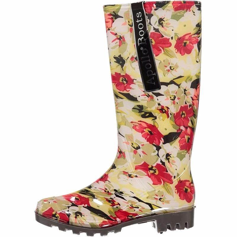 Bloemen regenlaarsjes voor vrouwen