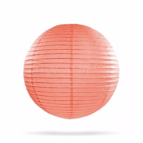 Bol lampion zalm roze 25 cm