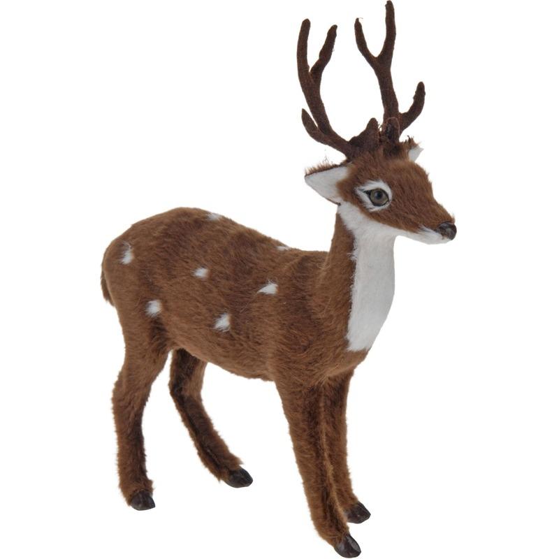 Bosdieren beeldje hert 15 cm staand