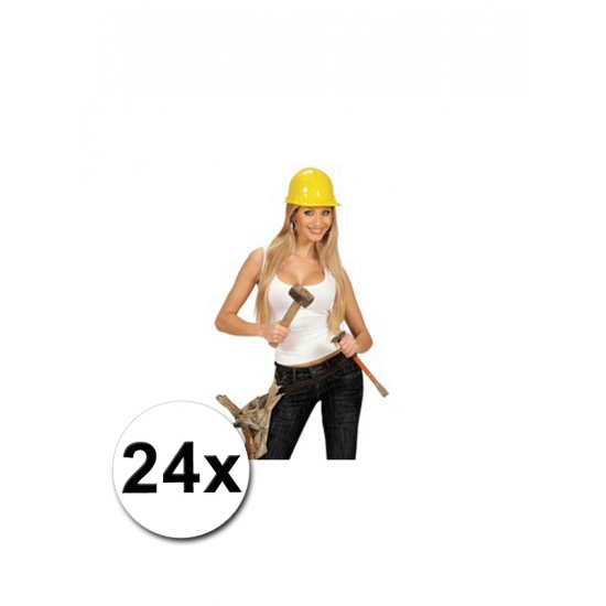 Bouw helmen volwassenen 24x
