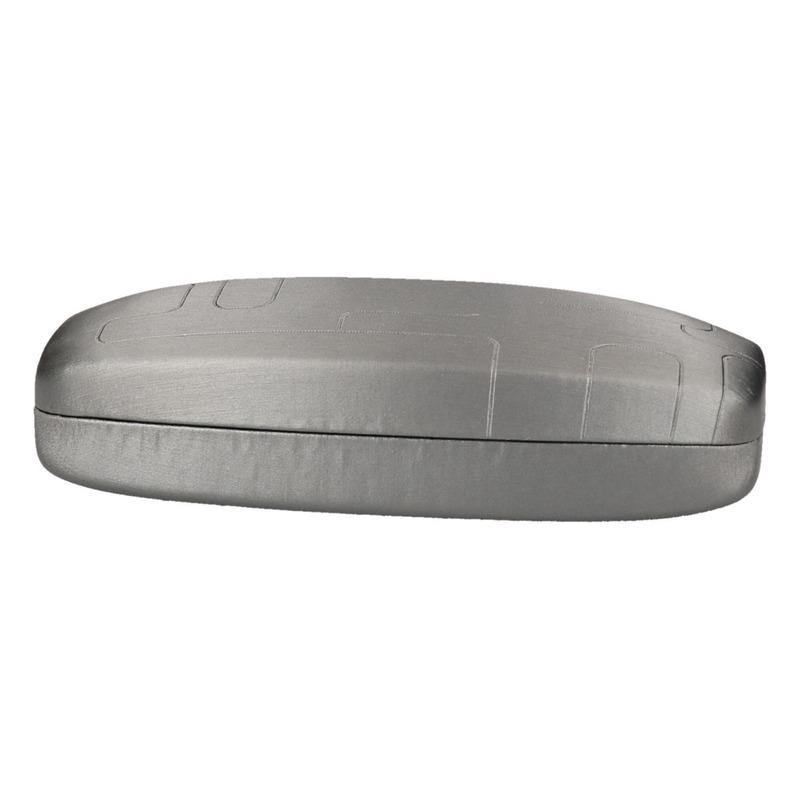 Bril/zonnebril opberg doosje zilver