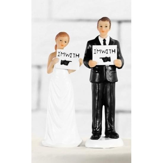 Bruidstaart decoratie bruidspaar I am with