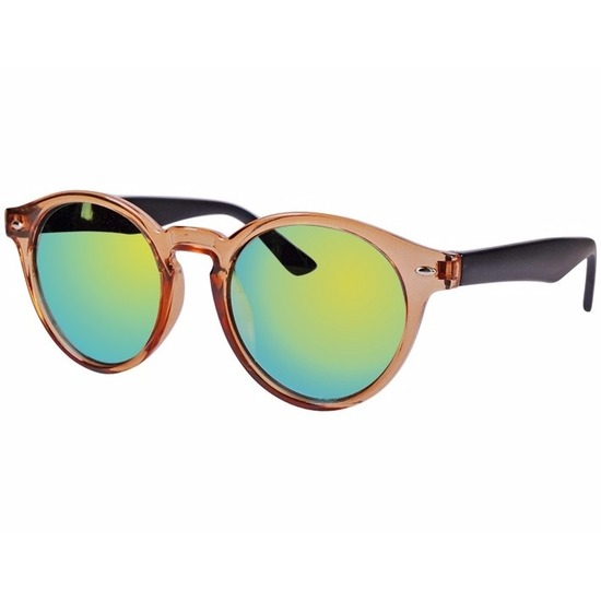 Bruine dames zonnebril ronde glazen model 7002