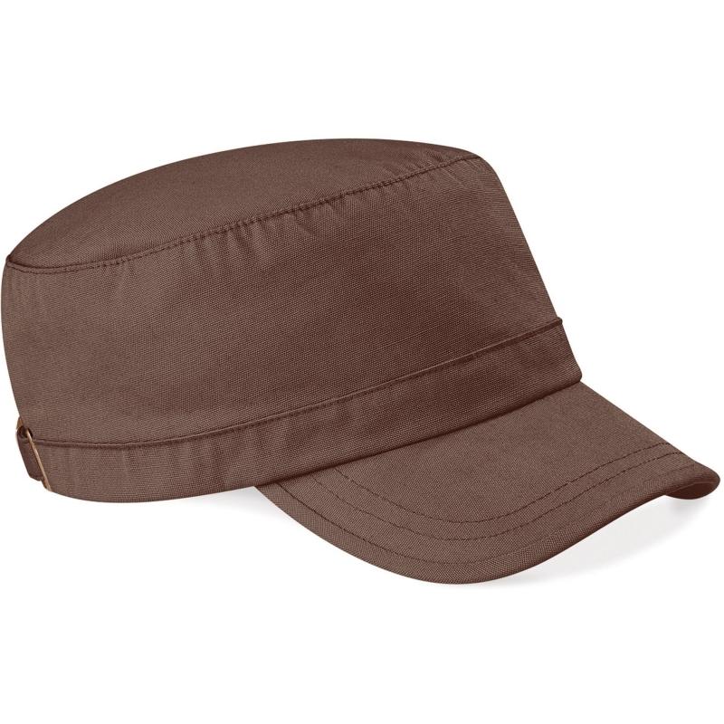 Bruine leger caps van Beechfield