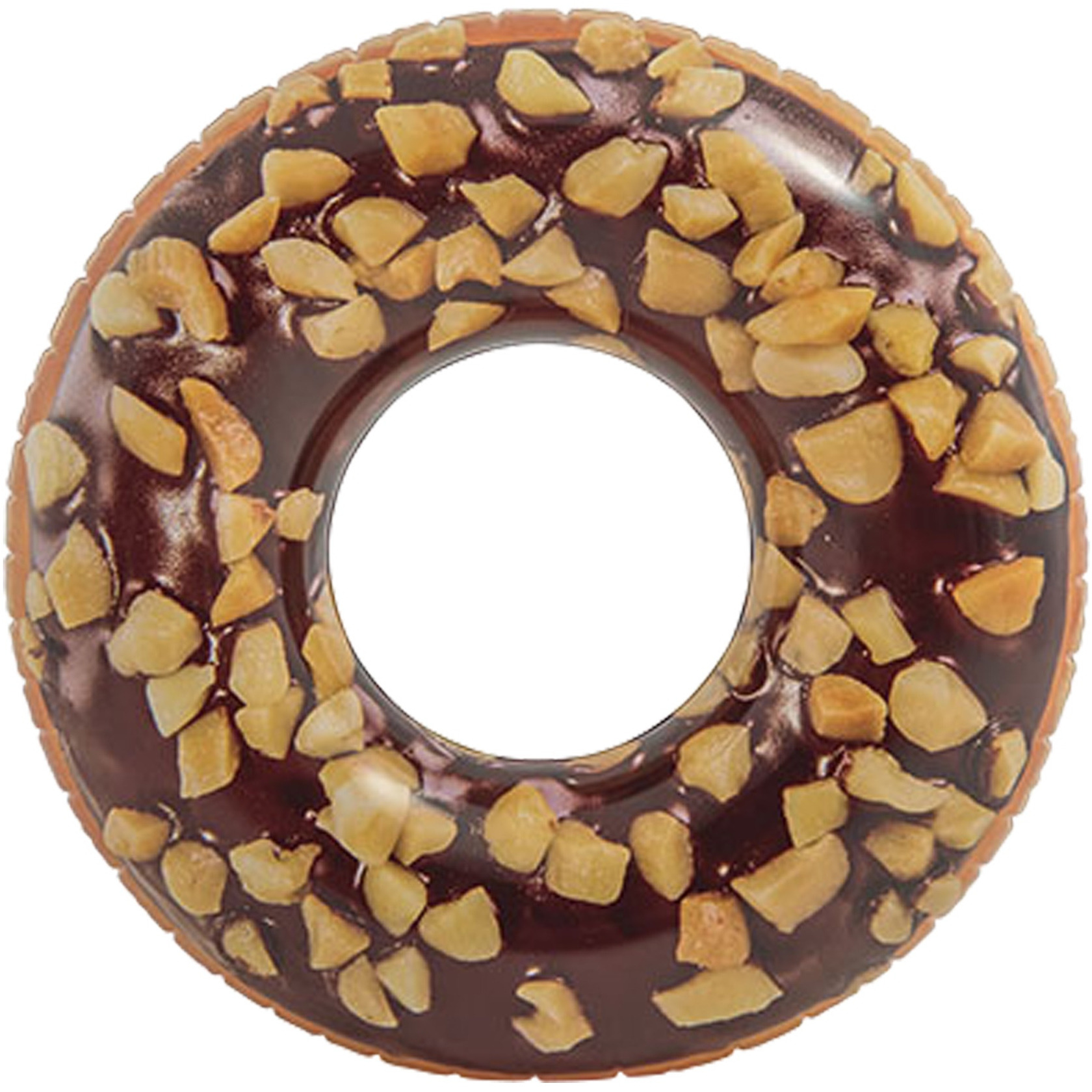 Bruine ronde donut zwemband 114 cm