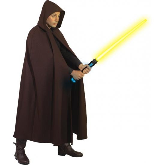 Bruine verkleed kostuum cape voor volwassenen
