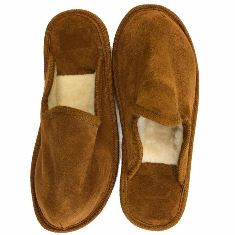 Buine heren slippers 100% wol