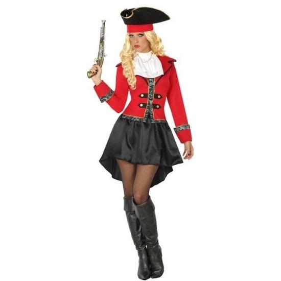 Carnaval piraten verkleedkleding Kapitein Grace voor dames