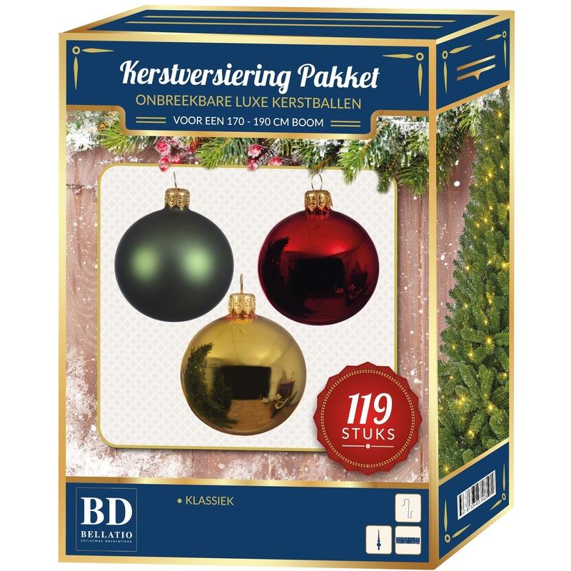 Complete Kerstballen set Classic voor 180 cm Kerstboom