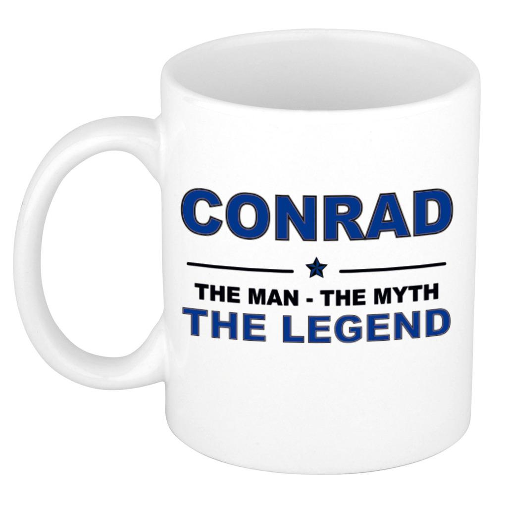 Conrad The man, The myth the legend verjaardagscadeau mok-beker keramiek 300 ml