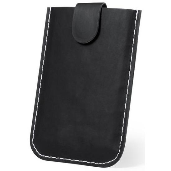Creditcardhouder pouch zwart PU leder voor 5 passen