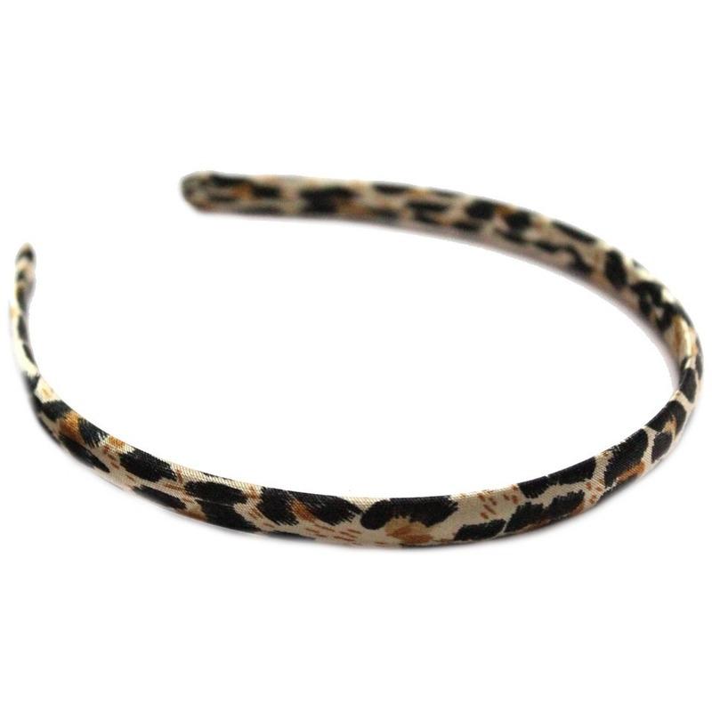 Dames diadeem-haarband met bruine panter dierenprint
