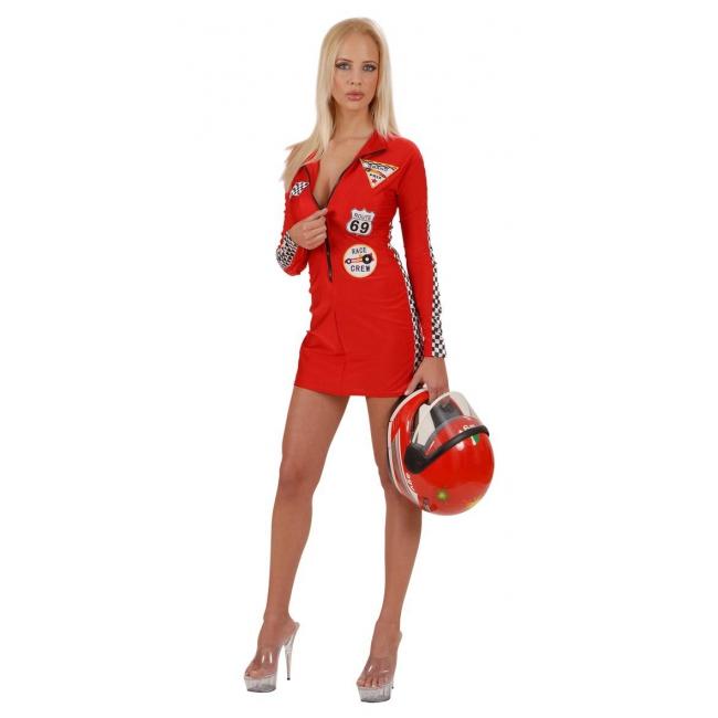 Dames Formule 1 kostuum rood