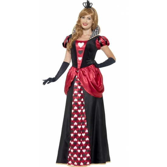 aeaf1a26de0257 Compleet hartenkoningin verkleedkostuum voor dames. het look a like alice  in wonderland kostuum bestaat uit