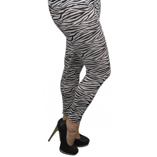 Dameslegging zebra print