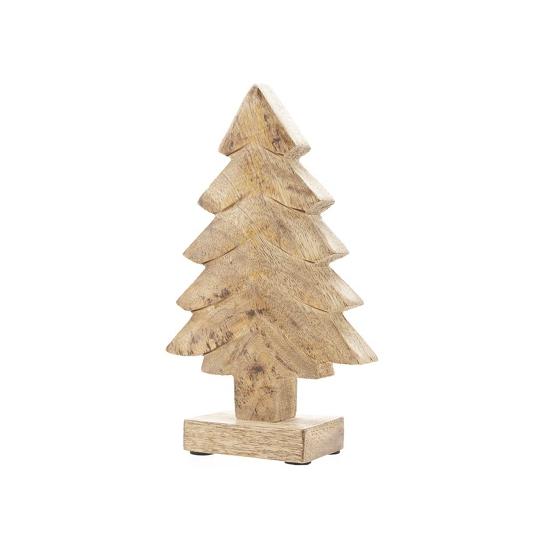 Decoratie kerstboompje natuur hout