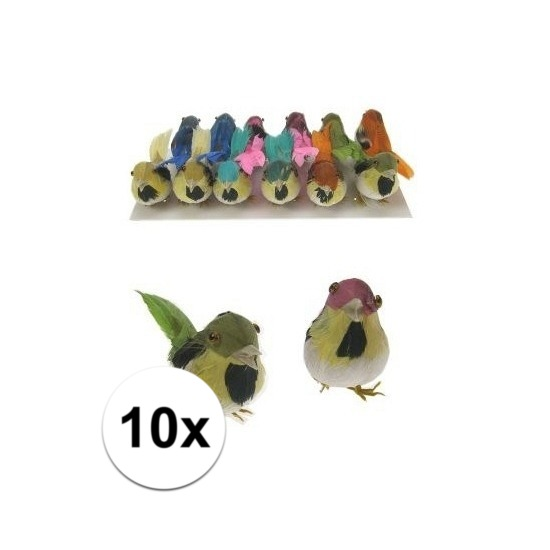 Decoratief vogeltje 10x