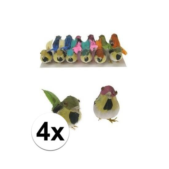 Decoratief vogeltje 4x