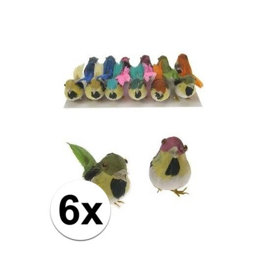 Decoratief vogeltje 6x