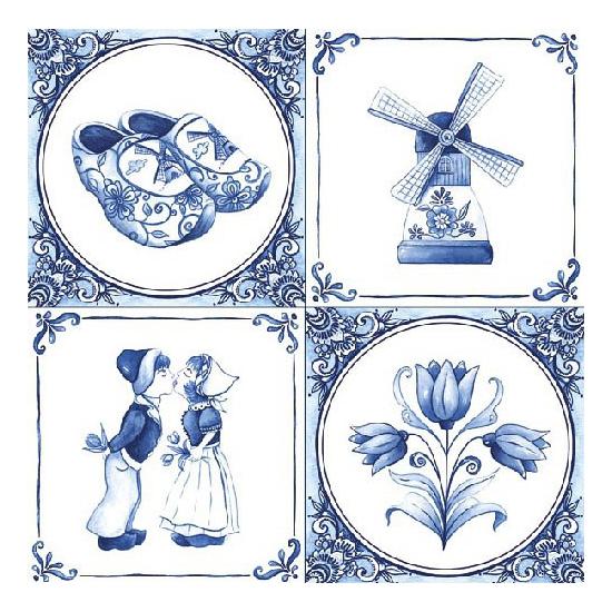 Delfts blauwe servetten 20x