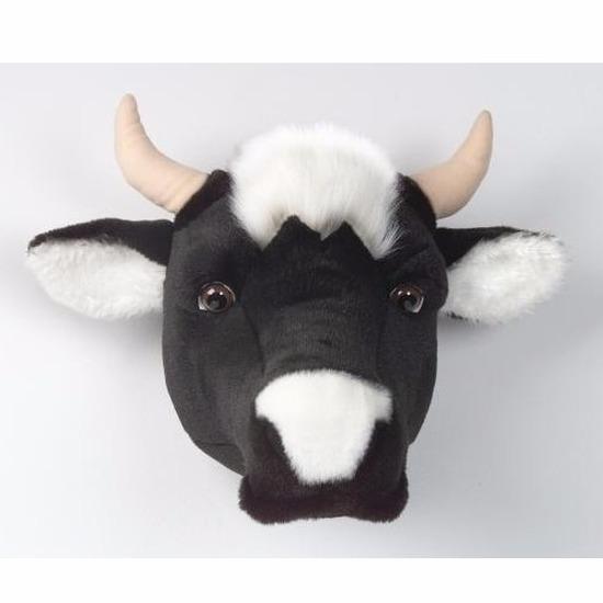 Dierenkop koe voor aan de muur