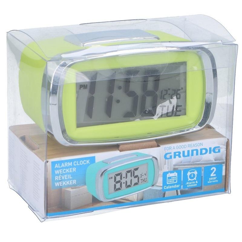 Digitale wekker-alarm klok limegroen