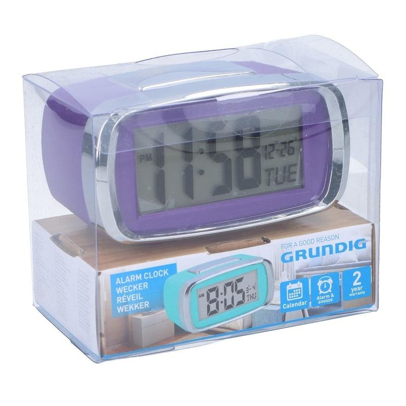 Digitale wekker-alarm klok paars