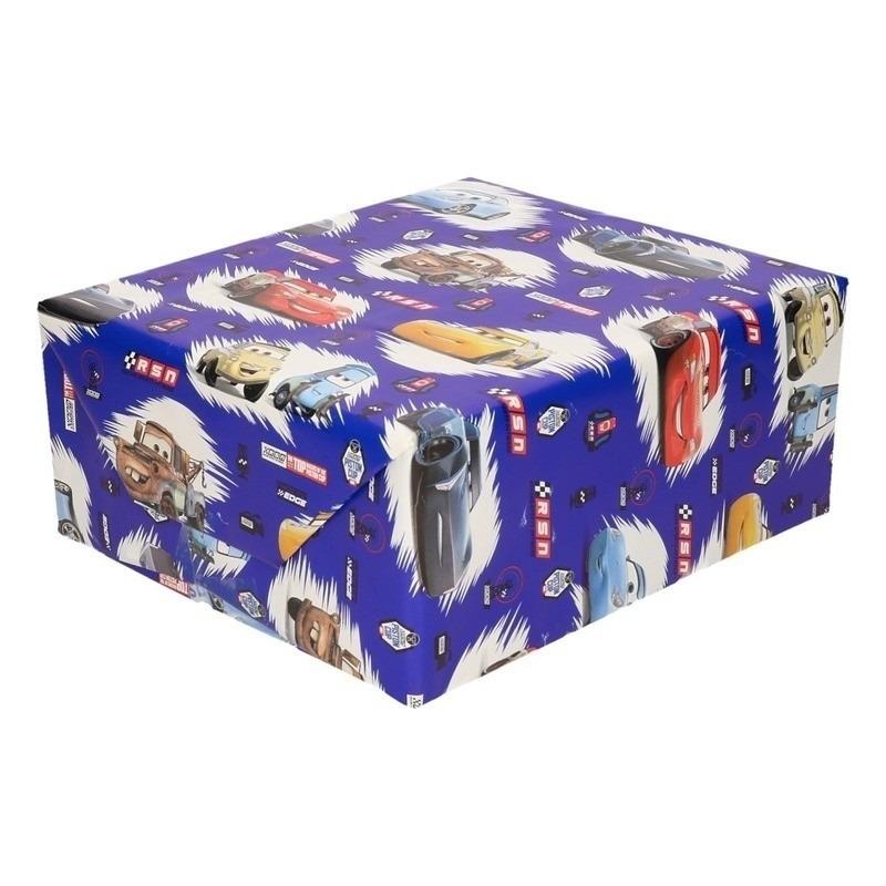Disney inpakpapier-cadeaupapier Cars blauw 200 x 70 cm op rol