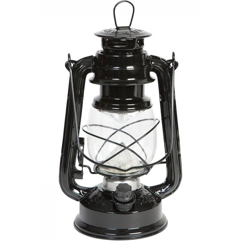 Draagbare LED lampen zwart 24 cm