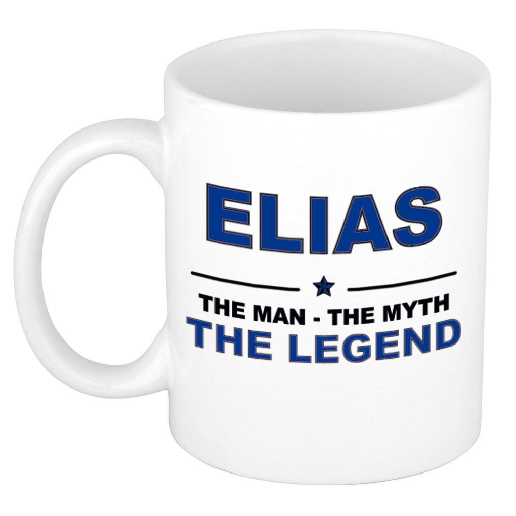 Elias The man, The myth the legend verjaardagscadeau mok-beker keramiek 300 ml