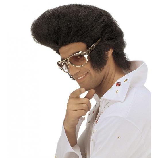 Elvis pruik met vetkuif