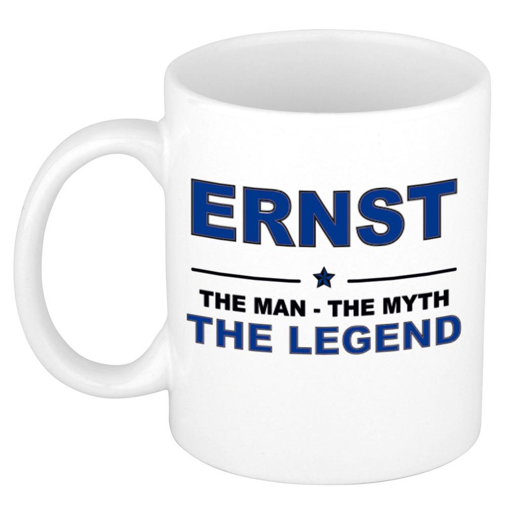 Ernst The man, The myth the legend verjaardagscadeau mok-beker keramiek 300 ml