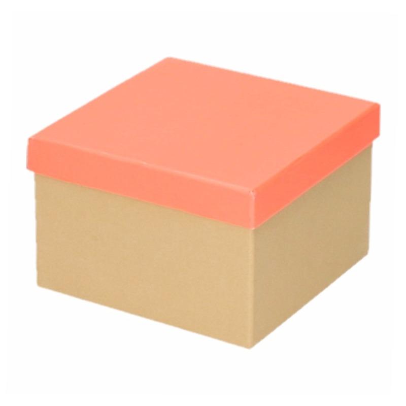 Etalage versiering karton/zalmroze cadeauverpakking doosje 15 cm