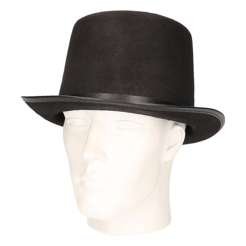 Feest hoge hoed zwart voor volwassenen