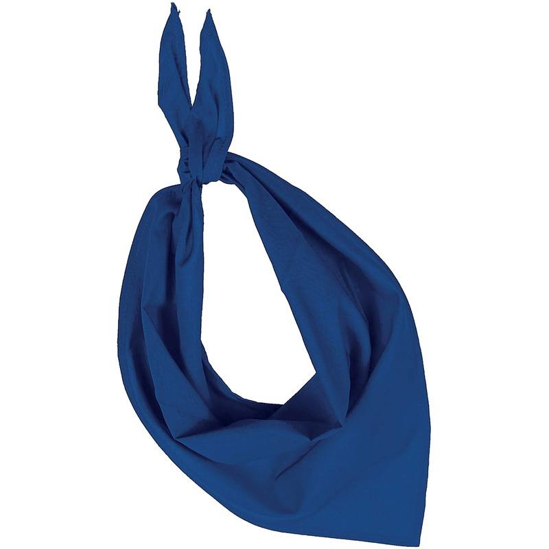Feest/verkleed blauwe bandana zakdoek voor volwassenen