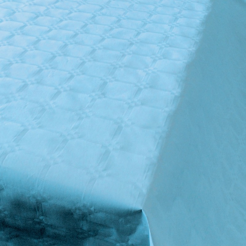 Feestartikelen papieren tafelkleed baby blauw 800 x 118 cm