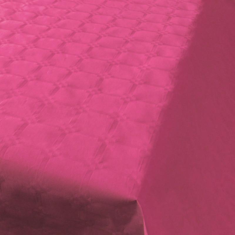 Feestartikelen papieren tafelkleed donkerroze 800 x 118 cm