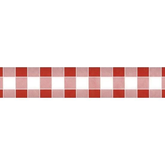 Feestartikelen papieren tafelkleed rood/witte ruiten 1000 x 118 cm