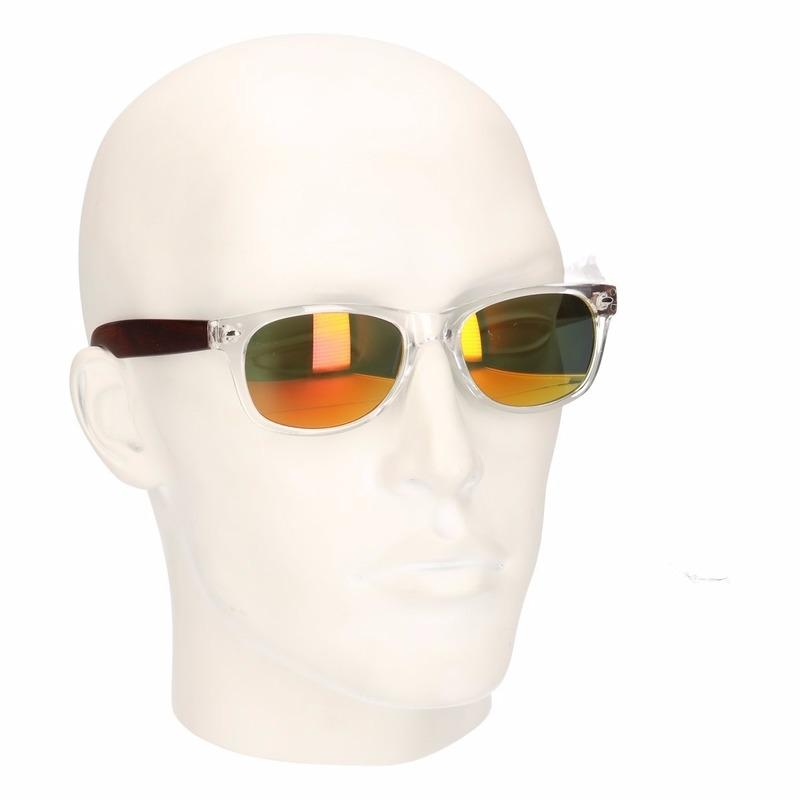 Festival mannen zonnebril met gele glazen