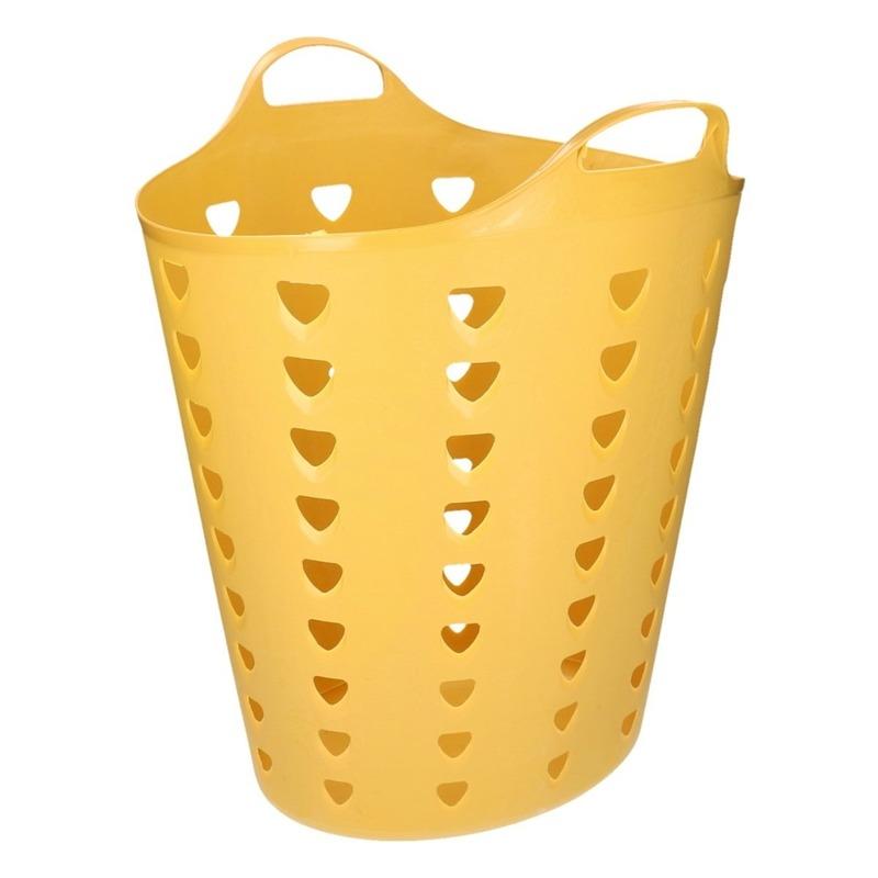 Flexibele gele mand met gaten 60 liter