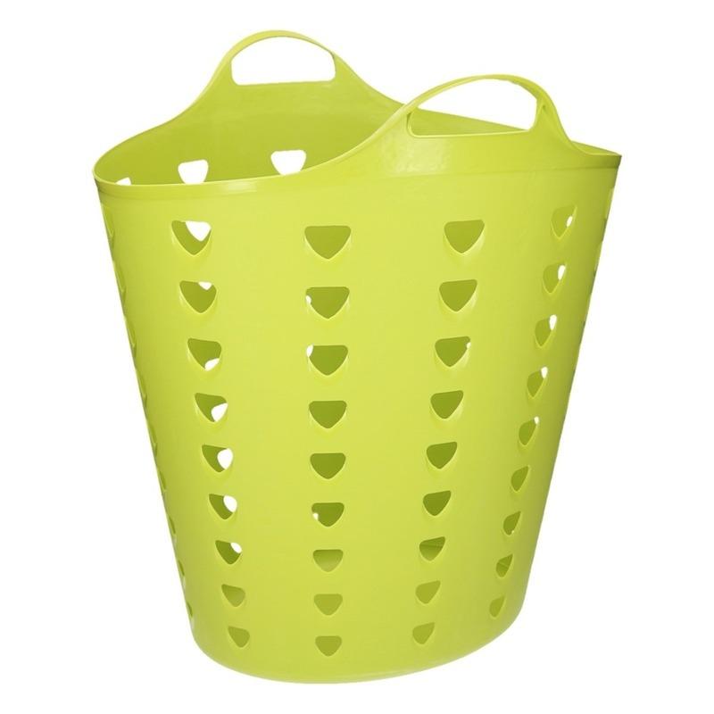 Flexibele groene mand met gaten 60 liter