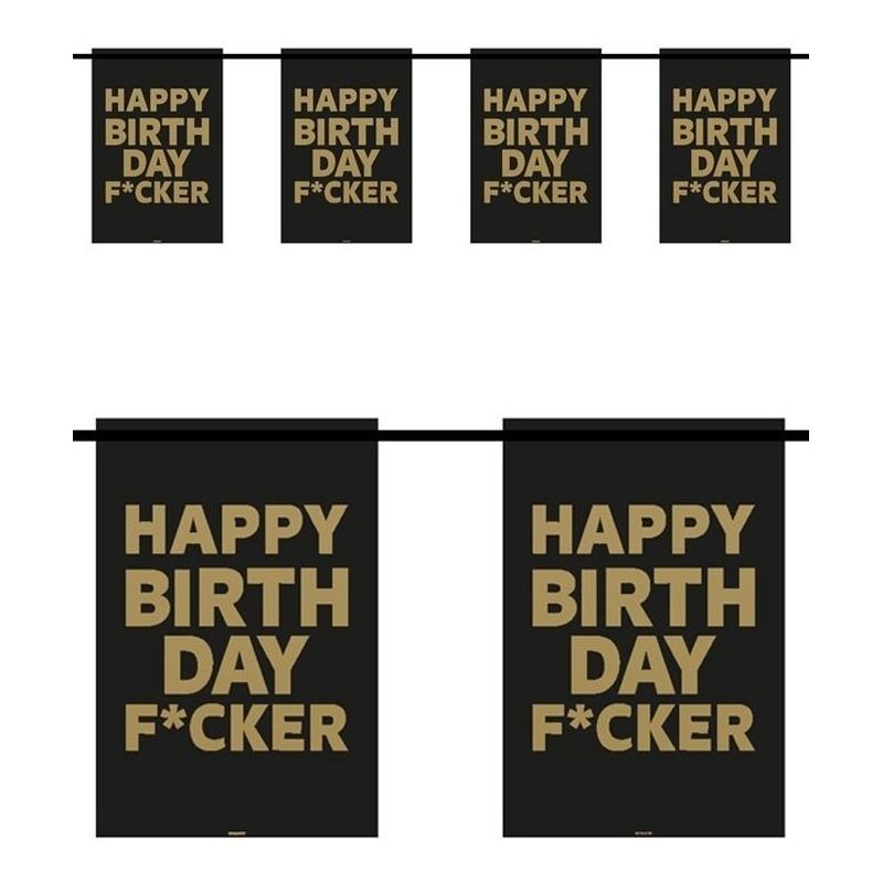 Fun vlaggenlijn Happy Birthday F*cker 6m