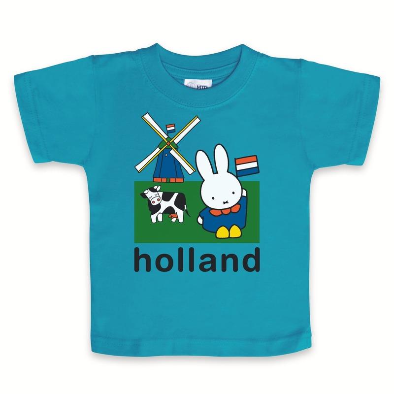 Geboorte kado blauwe baby t-shirt Nijntje Holland