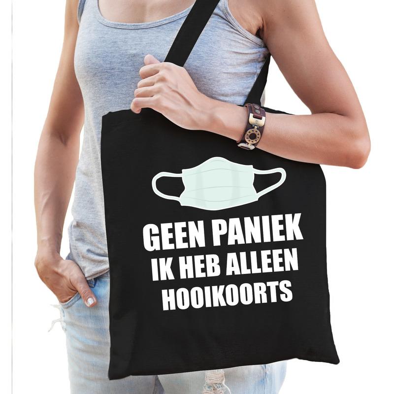 Geen paniek ik heb alleen hooikoorts tas zwart voor dames