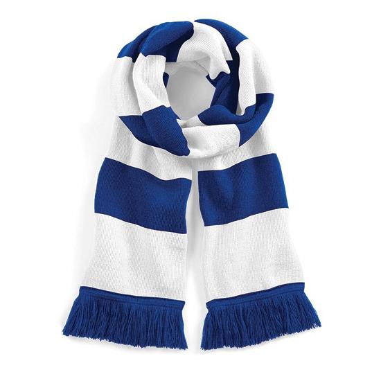 Gestreepte retro sjaal blauw/wit