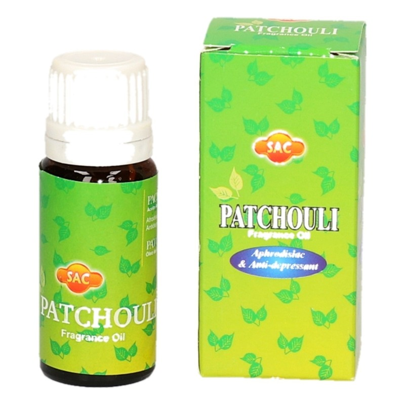 Geurolie patchouli 10 ml flesje